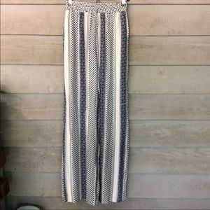 NWOT Blue and White Striped Palazzo Wide Pant